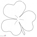 Shamrock coloring pages simple art