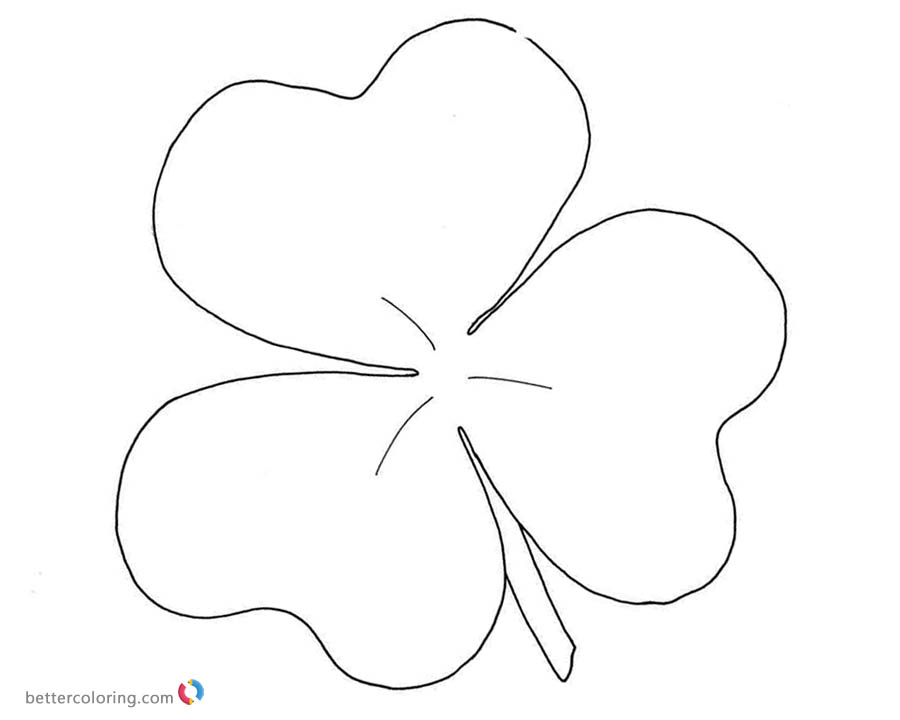 Shamrock coloring pages simple art - Free Printable Coloring Pages
