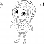 Shimmer and Shine Coloring Pages Leah Lineart Picture