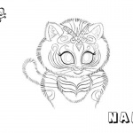 Shimmer and Shine Coloring Pages Nahal Tiger