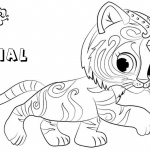 Shimmer and Shine Coloring Pages Nahal Walking