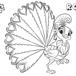 Shimmer and Shine Coloring Pages Peacock Roya