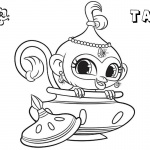 Shimmer and Shine Coloring Pages Pet Monkey Tala