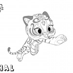 Shimmer and Shine Coloring Pages Pet Nahal Jumping