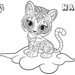 Shimmer and Shine Coloring Pages Pet Nahal on the Cloud