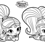 Shimmer and Shine Coloring Pages Rest on the Floor