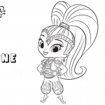 Shimmer and Shine Coloring Pages Shine Clipart Picture