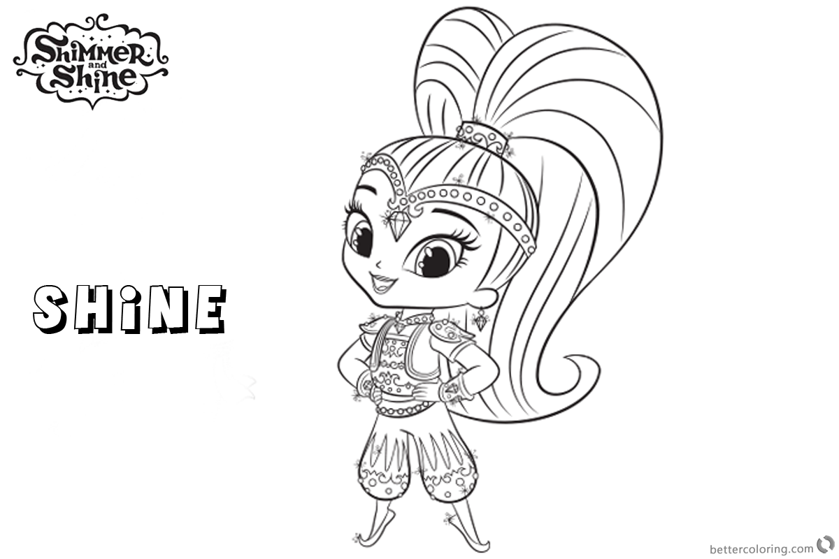 image regarding Shimmer and Shine Coloring Pages Printable called Shimmer and Glow Coloring Web pages Glow Clipart Think about