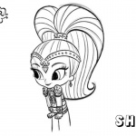 Shimmer and Shine Coloring Pages Shine Fan art
