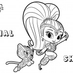 Shimmer and Shine Coloring Pages Shine and Nahal