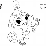 Shimmer and Shine Coloring Pages Tala Clipart