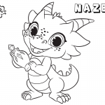 Shimmer and Shine Coloring Pages Cute Pet Nazboo Drawing