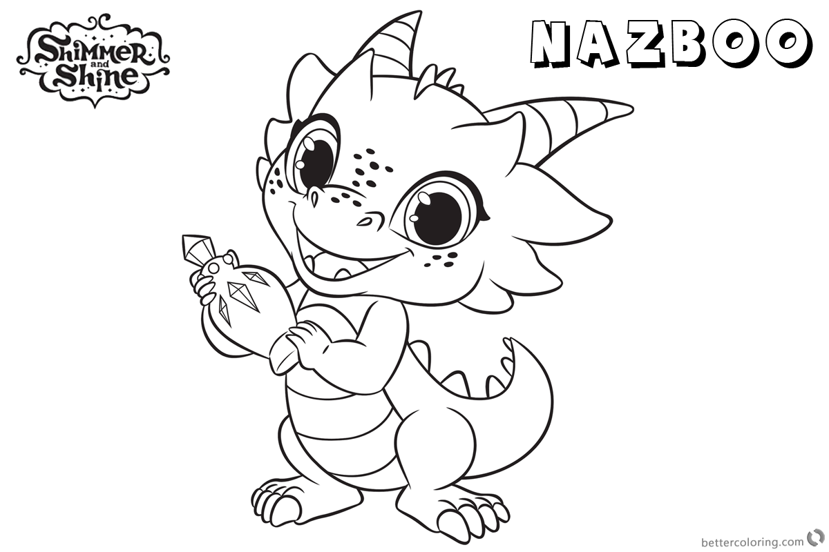 Shimmer and Shine Coloring Pages