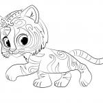 Shimmer and Shine Coloring Pages Cute Tiger Nahal