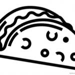 Simple Taco Coloring Page for Preschool Kids