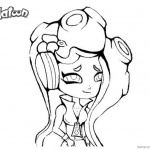 Splatoon 2 Coloring Pages Marina Drawing by ettachu