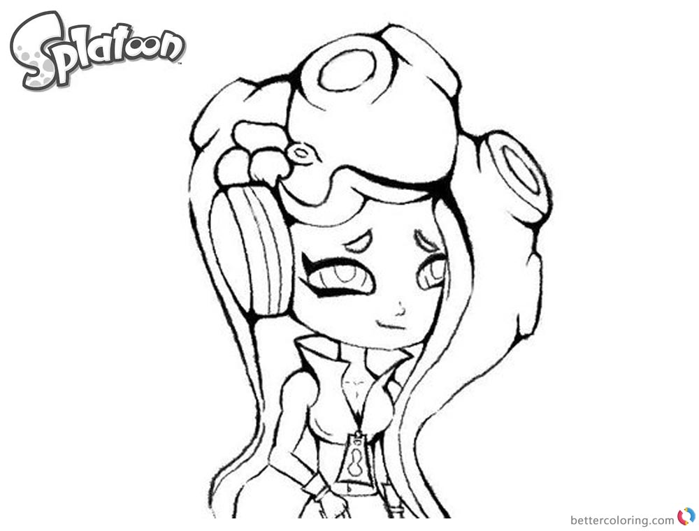 Splatoon 2 Coloring Pages Marina Drawing By Ettachu Free