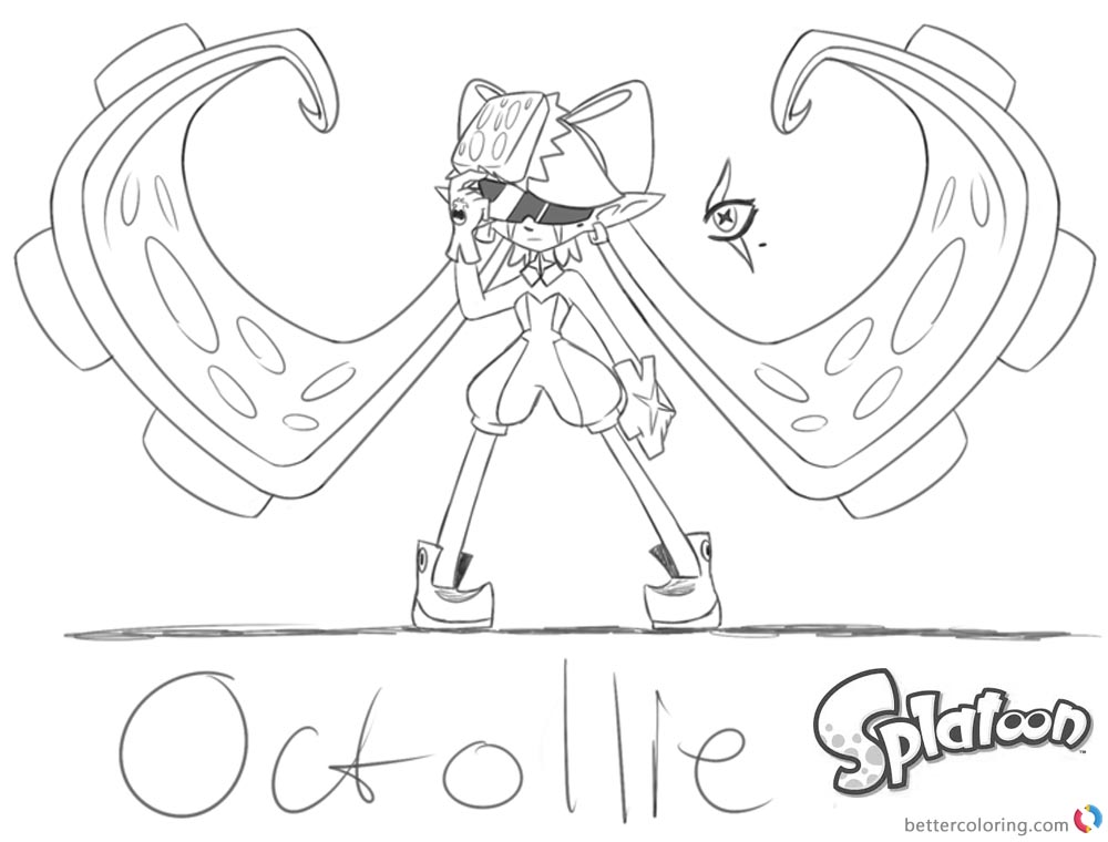 Splatoon 2 coloring pages mindcontrolled callie free for Splatoon coloring pages