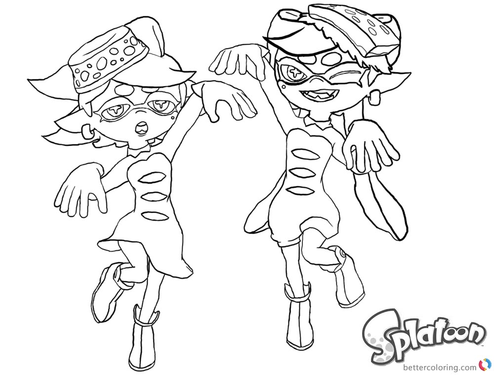 Splatoon Coloring Pages Lovely