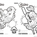 Splatoon Coloring Pages Coloring Sheet