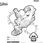 Splatoon Coloring Pages Coloring Worksheet