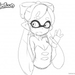 Splatoon Coloring Pages Cute Inkling Girl Say Hi