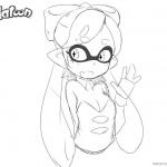 Splatoon Coloring Pages Cute Inkling Girl Say Hi