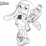 Splatoon Coloring Pages Cute Inkling Girl
