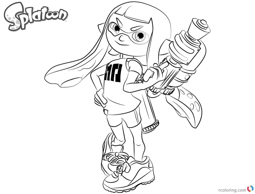 Splatoon Coloring Pages How to