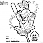 Splatoon Coloring Pages Inkling Coloring Sheet