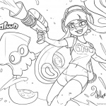 Splatoon Coloring Pages Inkling Fan Drawing by sweetstellar
