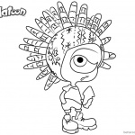 Splatoon Coloring Pages Murch from Splatoon 2