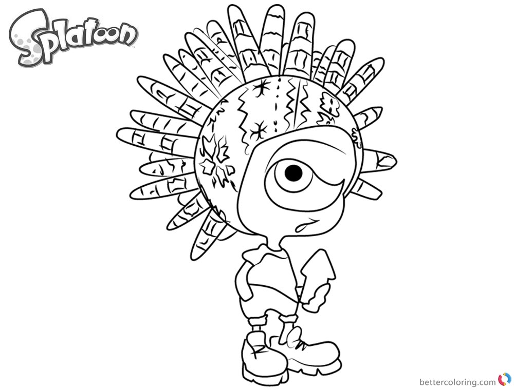 Splatoon coloring pages murch from splatoon 2 free for Splatoon coloring pages