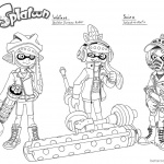 Splatoon Coloring Pages Oc lineart by megaloceros_9