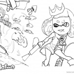 Splatoon Coloring Pages Sketch by xiong-chenwen