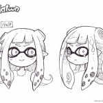 Splatoon Coloring Pages Splatoon 2 Head Drawing Art