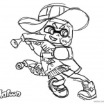 Splatoon Coloring Pages Splatoon 2 Inkling Girl Drawing