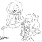 Splatoon Coloring Pages Marina and Pearl Sketch from Splatoon 2