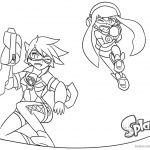 Splatoon Coloring Pages x Overwatch Lineart
