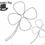 St Patric Day Four Leaf Clover Simple Art