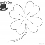 St Patric Day coloring pages Four Leaf Clover