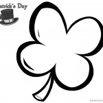 St Patric Day coloring pages four leaf clover picture