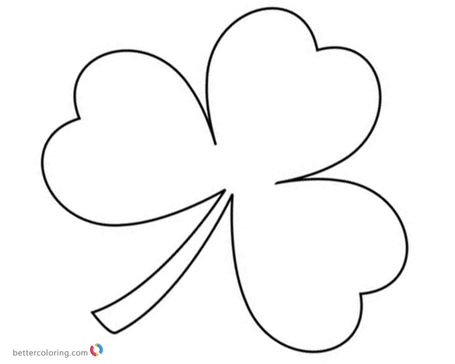 St Patrick day Shamrock coloring pages - Free Printable Coloring Pages