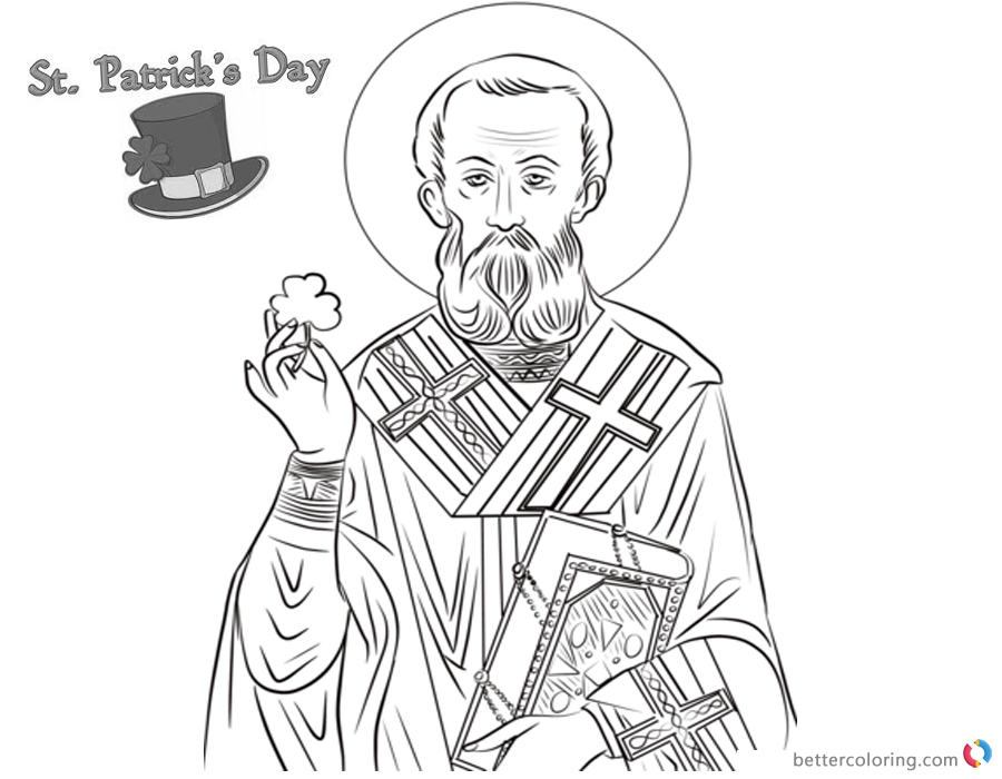 St Patricks day shamrock coloring pages printable