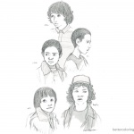 Stranger Things Coloring Pages Characters Sketch