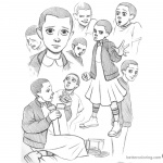Stranger Things Coloring Pages Characters by strangerkate