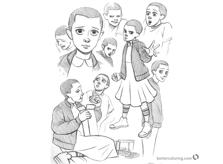Stranger Things Coloring Pages Characters by strangerkate - Free ...