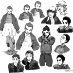 Stranger Things Coloring Pages Eleven and other Characters