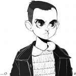 Stranger Things Coloring Pages Eleven cartoon art