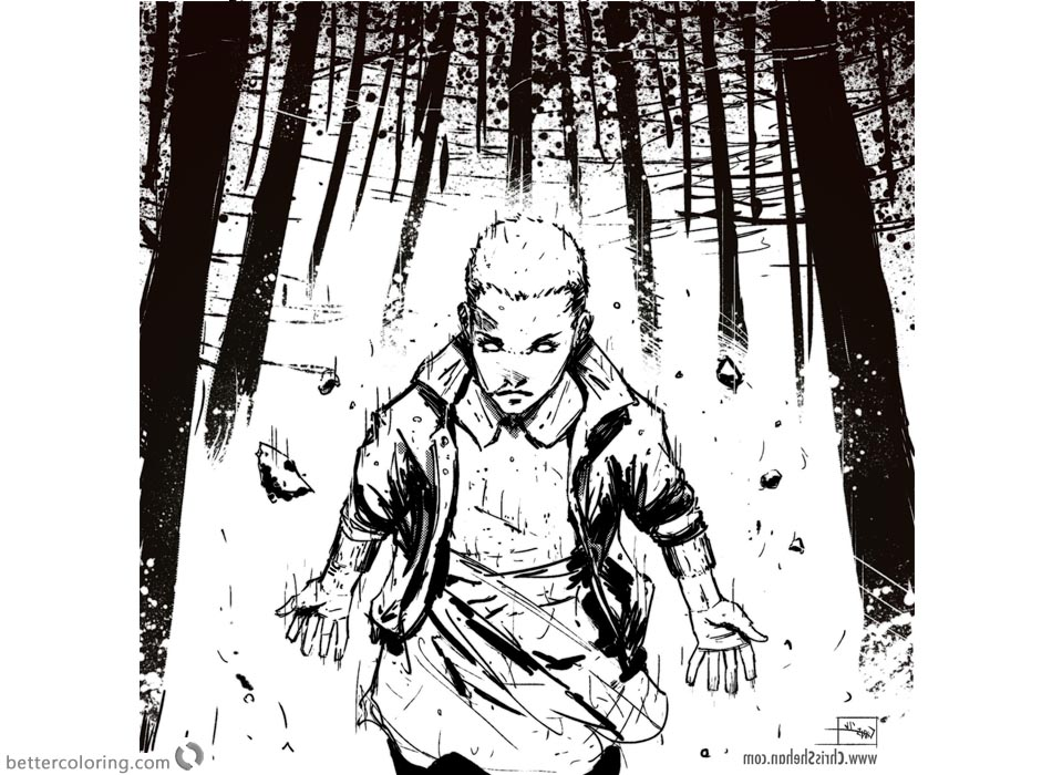 Stranger Things Coloring Pages Eleven is Running printable